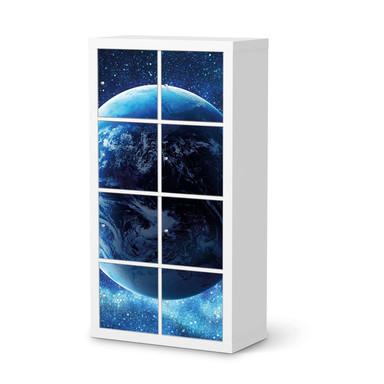 Folie IKEA Kallax Regal 8 Türen - Planet Blue- Bild 1
