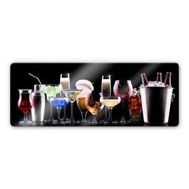 Glasbild Cocktail Feeling - Panorama