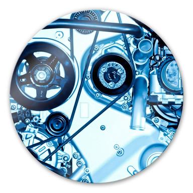 Glasbild Motorscan - rund