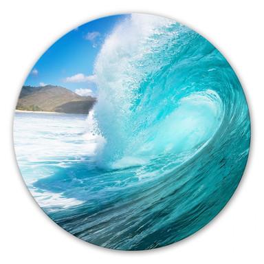 Glasbild Welle rund