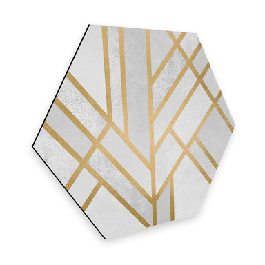 Hexagon - Alu-Dibond - Fredriksson - Goldene Geometrie