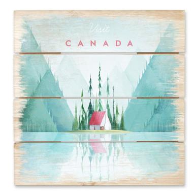 Holzbild Rivers - Kanada