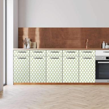Küchenfolie - Unterschrank 200cm Breite - Retro Pattern - Grün