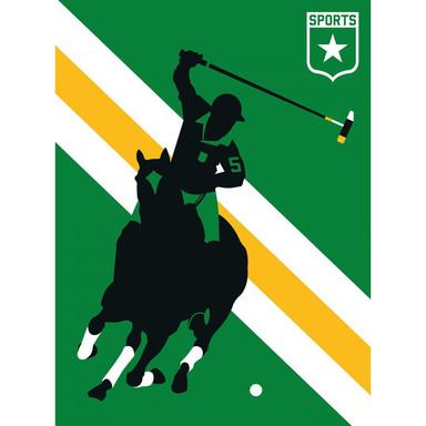 Livingwalls Fototapete ARTist HorsePolo gelb, grün, schwarz, weiss - Bild 1