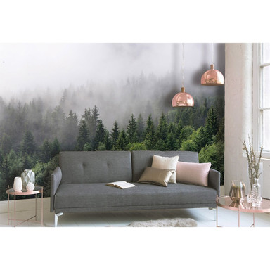 Livingwalls Fototapete Designwalls Foggy Fir Trees Wald