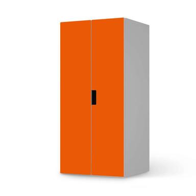 Möbelfolie IKEA Stuva / Malad Schrank - 2 grosse Türen - Orange Dark