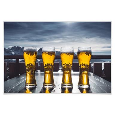 Poster Eiskaltes Bier