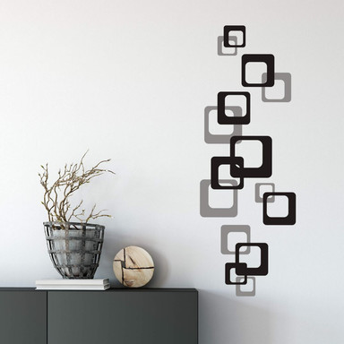 Wandtattoo Retro Cubes 2-farbig