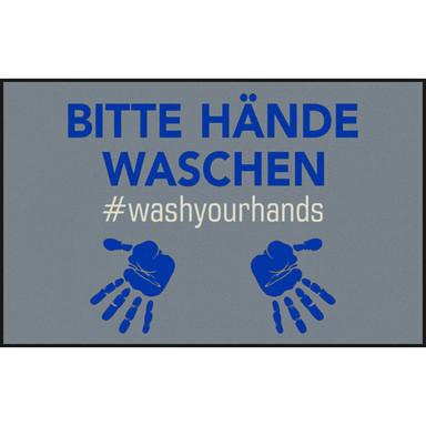 Wash&Dry Decor Fussmatte #washyourhand 75x120cm