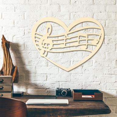 Holzkunst Pappel - Musik Herz