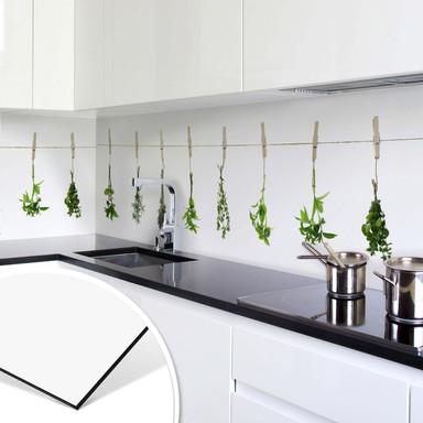 Küchenrückwand - Kräuter -Alu-Dibond