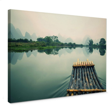 Leinwandbild Flossfahrt in China