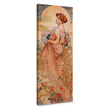 Leinwandbild Mucha - Jahreszeiten: Der Sommer 1900