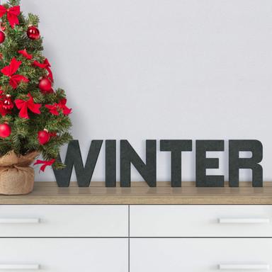 MDF-Holzbuchstaben Winter