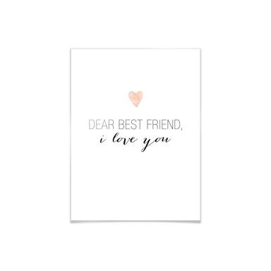 Poster Confetti & Cream - Dear best friend, i love you!