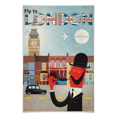 Poster PAN AM - Fly to London