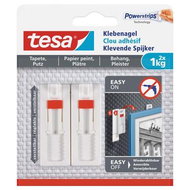 tesa® Klebenagel verstellbar Tapete & Putz 2x1kg - Bild 1