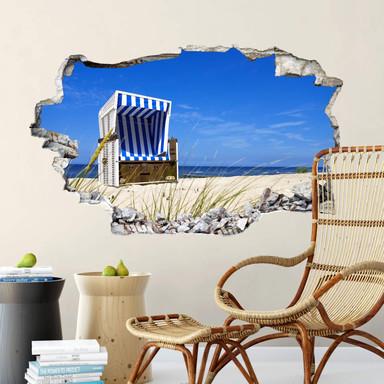3D Wandtattoo Strandkorb