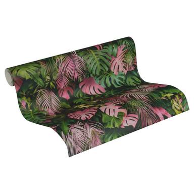 A.S. Création Vliestapete Greenery Tapete mit Palmenprint in Dschungel Optik grün, rosa