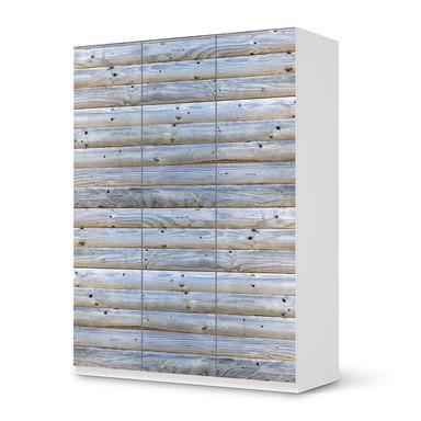 Folie IKEA Pax Schrank 201cm Höhe - 3 Türen - Greyhound- Bild 1