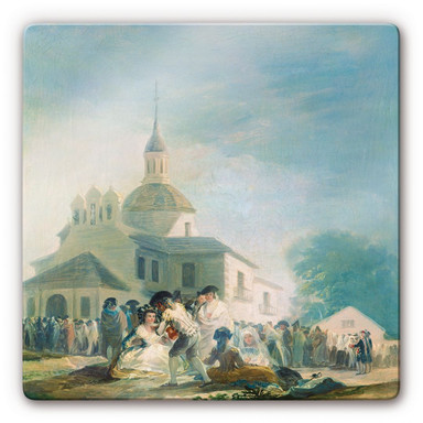 Glasbild de Goya - Die Einsiedelei des hl. Isidor
