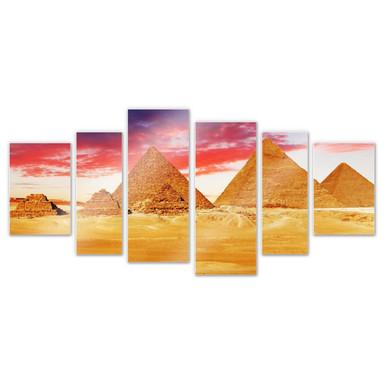 Hartschaumbild Die Pyramiden von Gizeh (6-teilig)