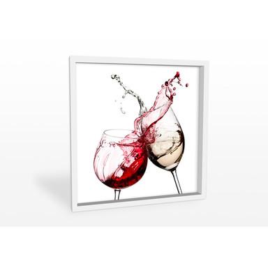 Hartschaumbild Weingläser - quadratisch