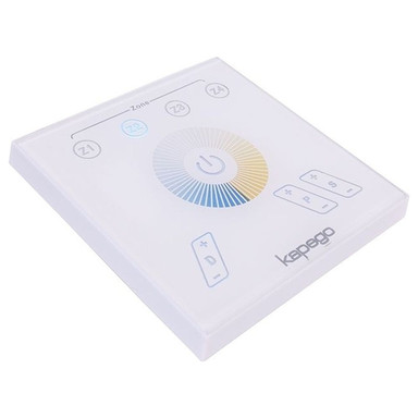 Kapego RF Touchpanel in Weiss Tunable White