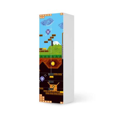 Klebefolie IKEA Stuva / Malad - 3 Schubladen und 2 grosse Türen - Pixelmania- Bild 1