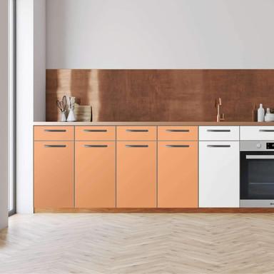 Küchenfolie - Unterschrank 160cm Breite - Orange Light