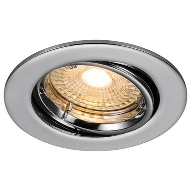 LED Einbaustrahler Carina in Chrom GU10 3x5W 345lm rund schwenkbar