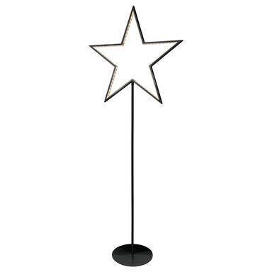 LED Sternstehleuchte Lucy in Schwarz 5W 130cm
