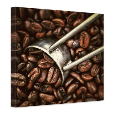 Leinwandbild Kaffeerösterei
