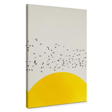 Leinwandbild Kubistika - Tausende Vögel