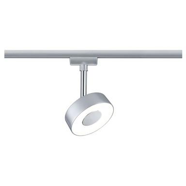 Modischer LED Spot Circle für URail Stromschiene in chrom-matt