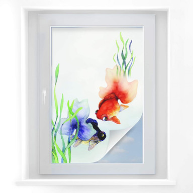 Sichtschutzfolie Aquarell Fische