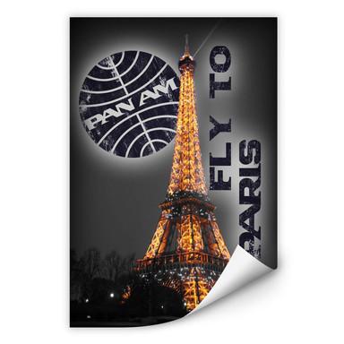 Wallprint PAN AM - Paris Eiffelturm beleuchtet