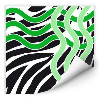 Wallprint Welle grün