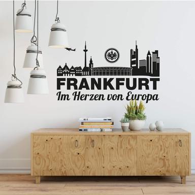 Wandtattoo Eintracht Frankfurt Skyline - Europa