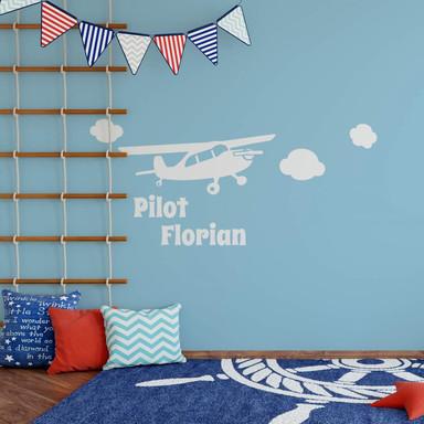 Wandtattoo Pilot