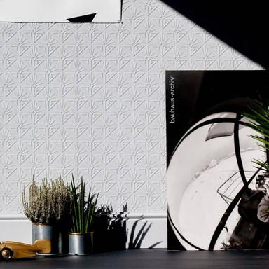 Anaglypta® Deco Paradiso Luxuriöse strukturierte Vinyltapete überstreichbar, weiss