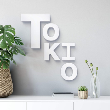 Dekobuchstaben 3D Tokio mixed