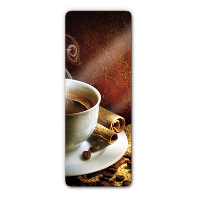Glasbild Coffee 5 Panorama