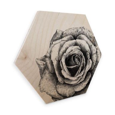 Hexagon - Holz Birke-Furnier Kools - Rose