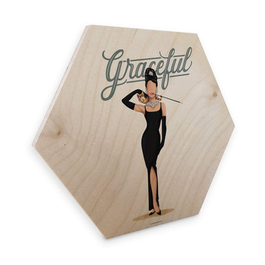 Hexagon - Holz Birke-Furnier Tohmé - Audrey