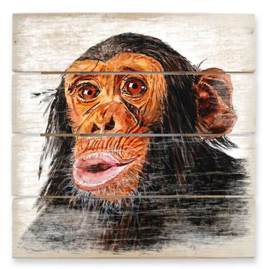 Holzbild Toetzke - Affenporträt