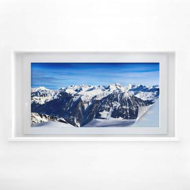 Sichtschutzfolie Alpenpanorama - Panorama