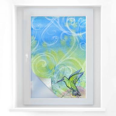 Sichtschutzfolie Aquarell Kolibri