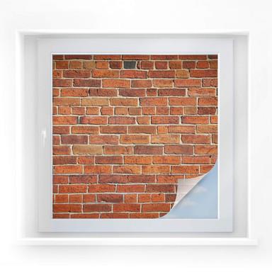 Sichtschutzfolie Ziegelsteinmauer - quadratisch