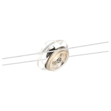 Tenseo Seilsystem, Seilleuchte QRB, dreh- und schwenkbar, QR111. weiss